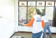 Davies Paints repainted some classrooms